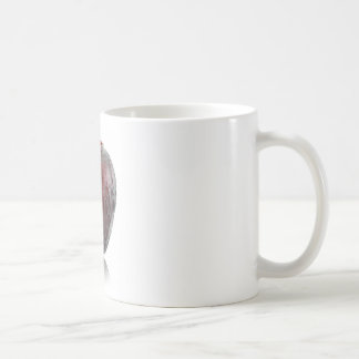 Red Art Deco glass bird vase. Coffee Mug