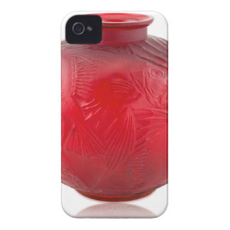 Red Art Deco glass vase with fish design. iPhone 4 Case
