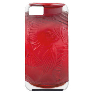 Red Art Deco glass vase with fish design. iPhone 5 Covers
