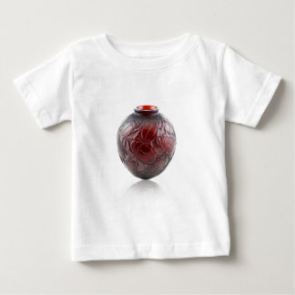 Red Art Deco glass vase with scarabs. Baby T-Shirt
