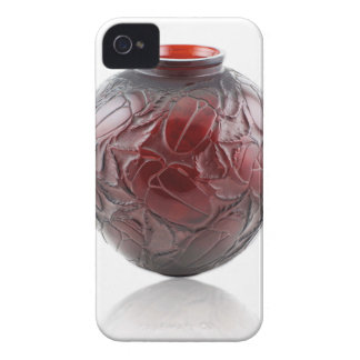 Red Art Deco glass vase with scarabs. Case-Mate iPhone 4 Case