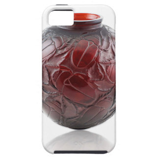 Red Art Deco glass vase with scarabs. iPhone 5 Cover