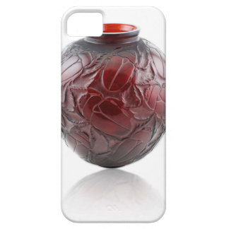 Red Art Deco glass vase with scarabs. iPhone 5 Covers