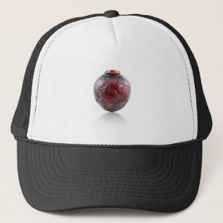 Red Art Deco glass vase with scarabs. Trucker Hat