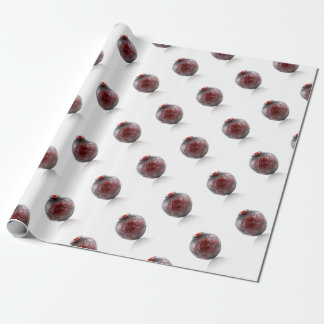 Red Art Deco glass vase with scarabs. Wrapping Paper