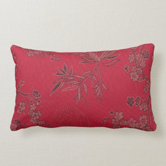 Red Asian inspired pillow