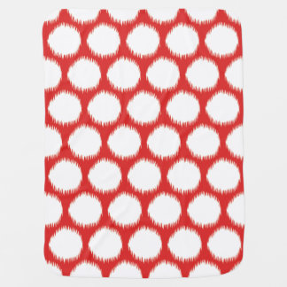 Red Asian Moods Ikat Dots Baby Blanket