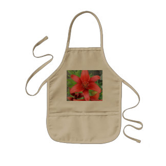 Red Asiatic Lily Kids Apron