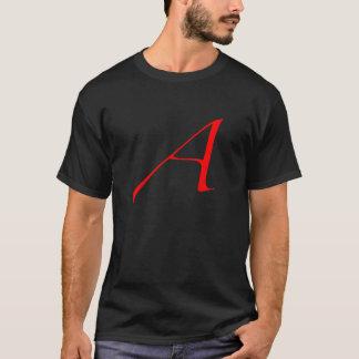 "Red Atheist ""A"" black t-shirt"