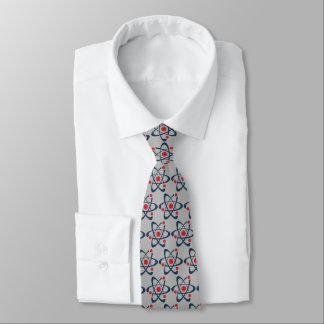 Red Atoms Design Necktie
