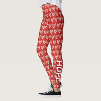 Red Awareness Ribbon Angel Hope & Cure Leggings