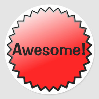 Red Awesome Award Stickers