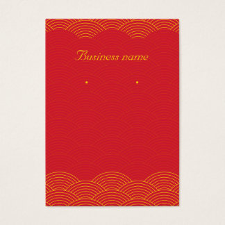 Red Background Earring Cards