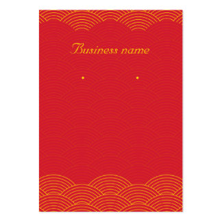 Red Background Earring Cards Large Business Card