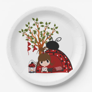 Red Backyard Campout 9 Inch Paper Plate