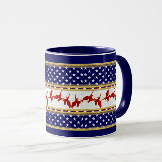 Red Bad Eagle American Stars Blue Mug