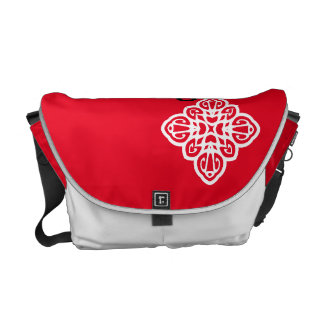 """Red Bag Flower """"Do you trust me ?' Commuter Bags"""