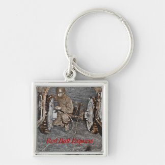 Red Ball Express Airing Tires Keychain