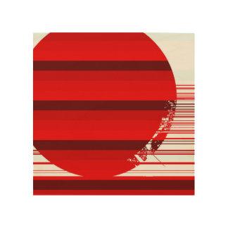 red ball wood print