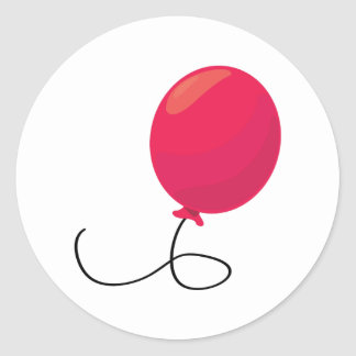 Red Balloon Classic Round Sticker