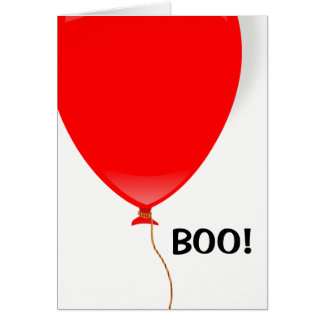 Red Balloon Halloween Card
