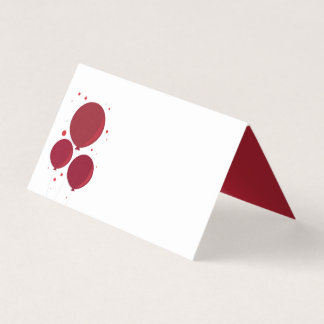 Red Balloons | Place cards