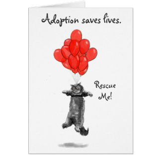 Red Balloons Rescue Me Notecards Card