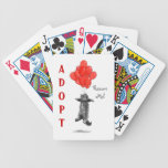 Red Balloons Rescue Me Playing Cards