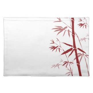 Red Bamboo Placemat