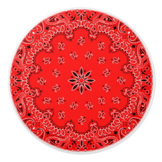 Red Bandana Ceramic Knob