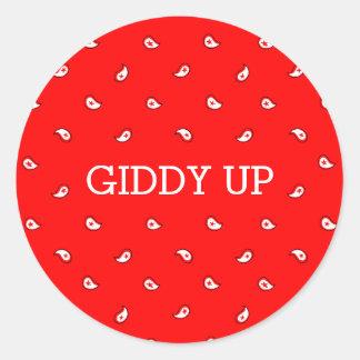 Red Bandana | Giddy Up Sticker