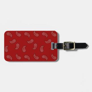 Red Bandana Luggage Tag