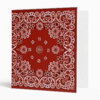 Red Bandana notebook Binder