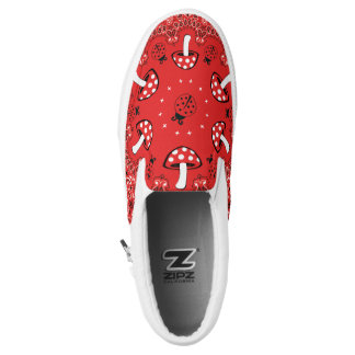 Red Bandanna Slippon Shoes