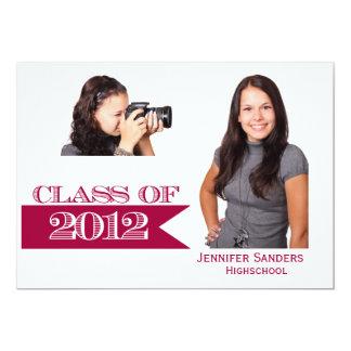 Red Banner Graduation Class of 2012 Announcement