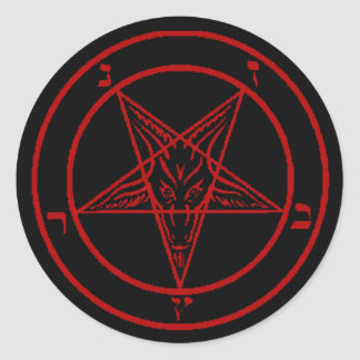 Red Baphomet Stickers
