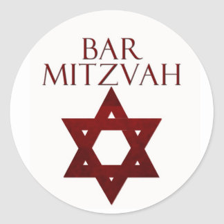 Red Bar Mitzvah stickers