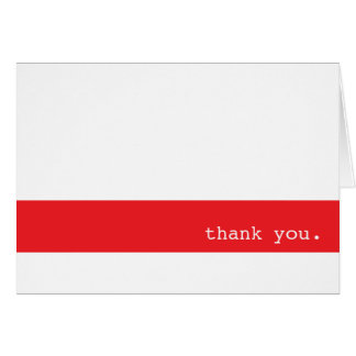 Red Bar Thank You Notecard