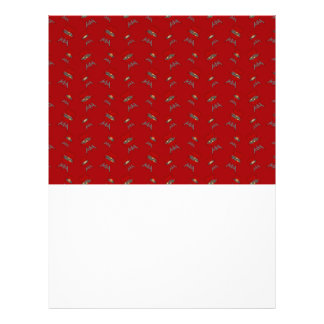 red barbeque pattern custom flyer