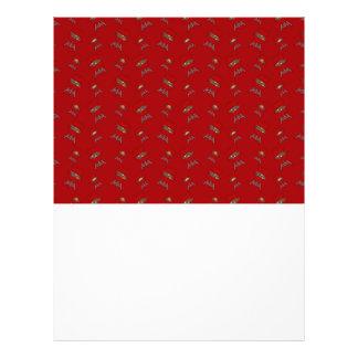 red barbeque pattern flyer design