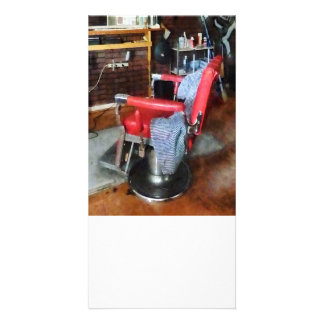 Red Barber Chair Photo Greeting Card