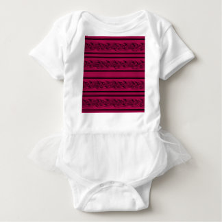 Red barbwire baby bodysuit
