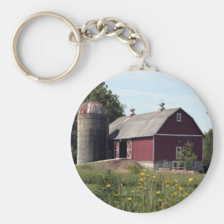Red Barn and Silo Keychain