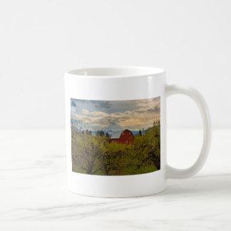 Red Barn at Pear Orchard Oregon Coffee Mug
