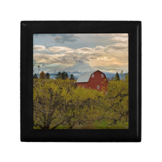 Red Barn at Pear Orchard Oregon Gift Box