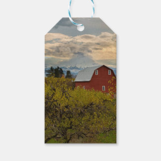 Red Barn at Pear Orchard Oregon Gift Tags