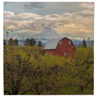 Red Barn at Pear Orchard Oregon Napkin