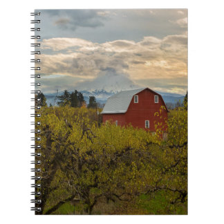 Red Barn at Pear Orchard Oregon Notebook