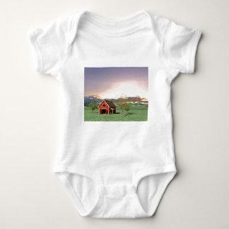 Red Barn at Sunset Baby Bodysuit