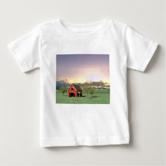 Red Barn at Sunset Baby T-Shirt